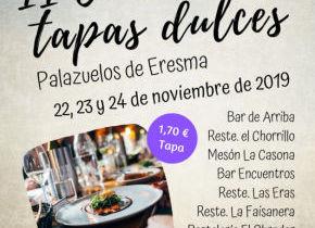 II CONCURSO DE TAPAS DULCES EN PALAZUELOS DE ERESMA, 22, 23 y 24 de noviembre de 2019