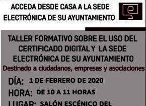 Taller de Formación sobre el uso del Certificado Digital y la Sede Electrónica