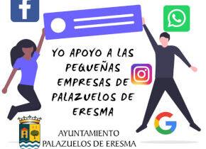 """Medidas COVID19: Campaña en las RRSS de la Agencia de desarrollo local del Ayuntamiento de Palazuelos de Eresma """"Apoya a la pequeñas empresas del municipio"""""""