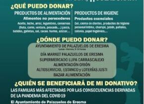 Medidas COVID19: El ayuntamiento de Palazuelos de Eresma inicia AYUDA COVID19 una campaña de recogida de productos de alimentación e higiene en Palazuelos de Eresma.