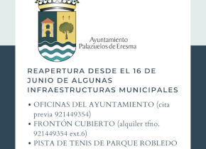 Reapertura de algunas infraestructuras municipales