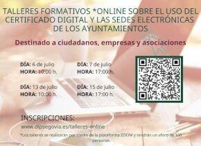 Talleres Online: Aprenda a utilizar el certificado digital y la Sede Electrónica de los Ayuntamientos