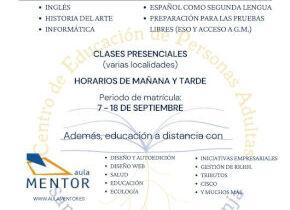 Educación de adultos, oferta formativa 2020 -2021