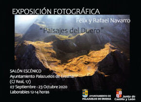 Exposición Paisajes del Duero en el Ayuntamiento de Palazuelos hasta el 23 de Octubre, visita en horario de oficina