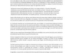 Los consultorios rurales de las diferentes zonas de salud de Segovia y provincia normalizan su atención a los usuarios.