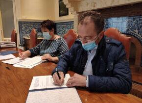 Los ayuntamientos de Segovia y Palazuelos de eresma firman el convenio que regula los usos del agua procedente del rancho del feo