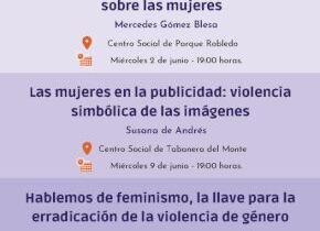 Ciclo de Charlas en junio dentro de la Campaña 2021de Iguadad de la mujer del Ayuntamiento de Palazuelos de Eresma