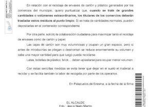 ACLARACIÓN BANDO Nº 2/2021 SOBRE LOS RESIDUOS DE SIEGAS, PODAS, ENSERES, ETC. RECICLAJE DE ENVASES DE CARTÓN Y PLÁSTICO