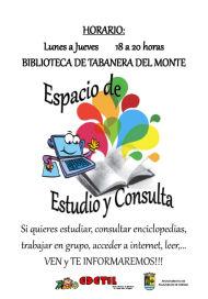Nuevo espacio abierto para la Cultura y el Estudio en Tabanera del Monte