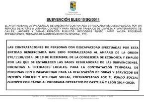 El Ayuntamiento de Palazuelos de Eresma ha contratado a 2 trabajadores por un periodo de 90 días a través de Subvención de la Jcyl