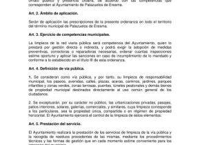 Ordenanza Municipal reguladora de Limpieza, Mantenimiento, Conservación y Ornato de Espacios Urbanos (Aprobación definitiva).
