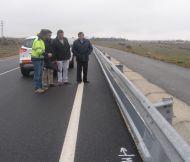 La Diputación - a petición del pleno municipal de Palazuelos - instala faldones de seguridad para motoristas en la SG-V-6122  y en SG-V-6126