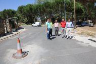 El Presidente de la Diputación visita las obras que la Diputación cofinancia en Palazuelos de Eresma