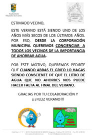 SOLICITUD COLABORACION AHORRO DE AGUA