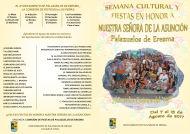 Semana Cultural y Fiestas de Nuestra Señora de la Asunción 2017. Del 7 al 15 de Agosto
